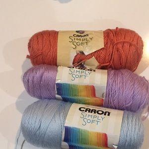 Caron's Simply soft yarn bundle